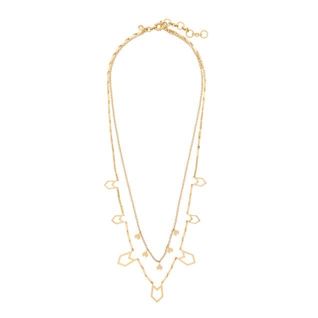 Brass cutouts necklace