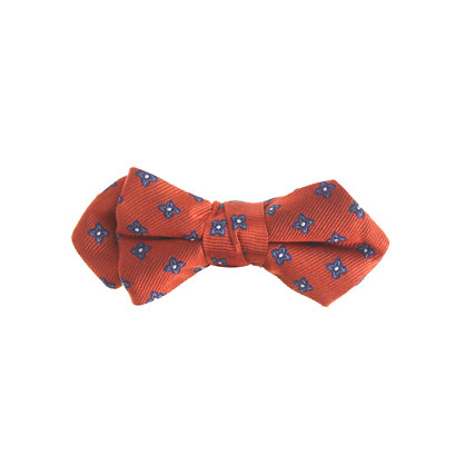 Boys' silk bow tie in foulard