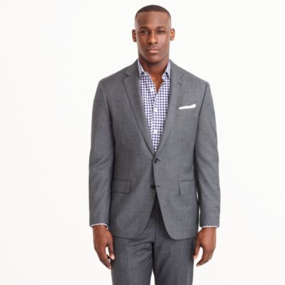 Crosby suit jacket with center vent in Italian worsted wool