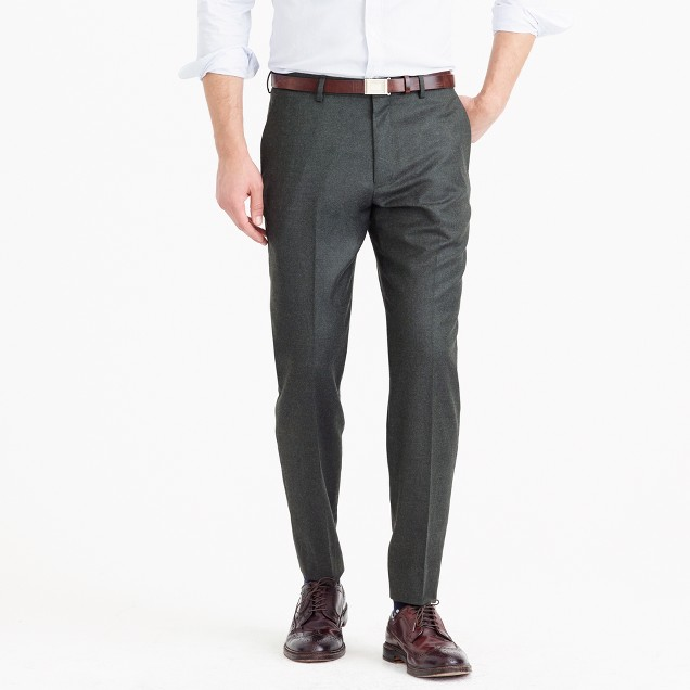 Crosby suit pant in heathered Italian wool flannel