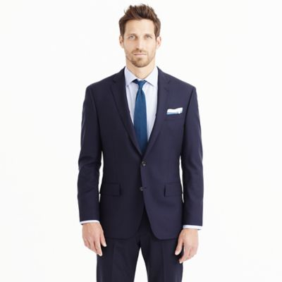 Crosby suit jacket with center vent in Italian wool