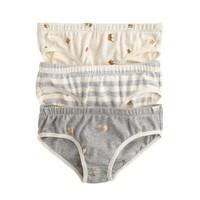 Girls' underwear three-pack in stripe heart