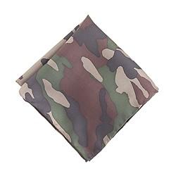 Boys' silk pocket square in camo