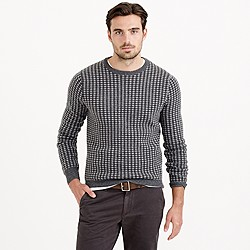 Italian cashmere sweater in gingham