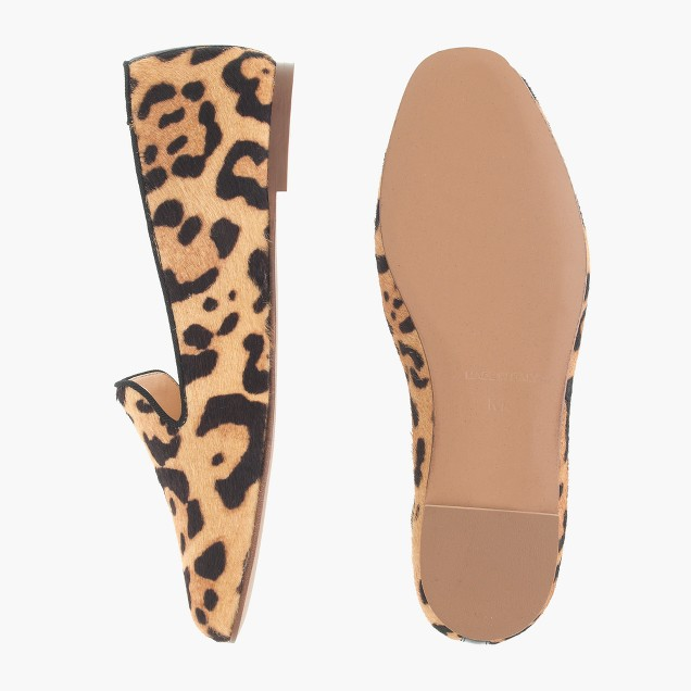 Girls' calf hair Darby loafers