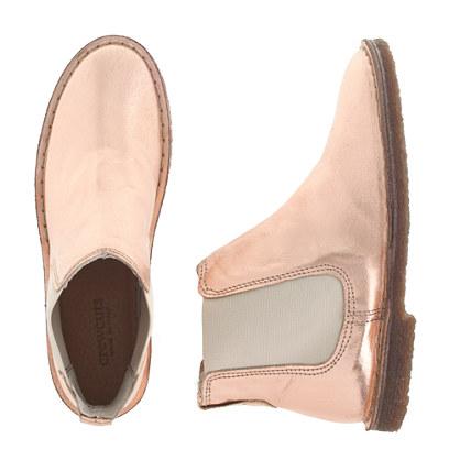 Girls' metallic pull-on boots