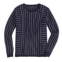 Collection cashmere sweater in pinstripe