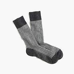 J. Crew Anonymous Ism™ wool herringbone socks