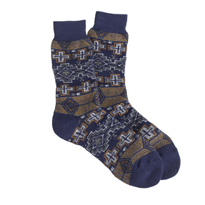 Anonymous Ism navy Navajo socks
