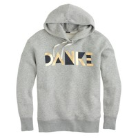 "Hooded ""danke"" sweatshirt"