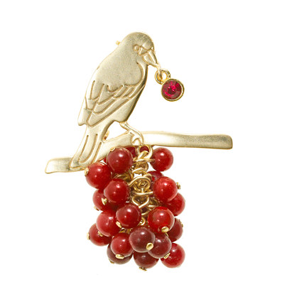 Marc Alary™ for J.Crew birdberry brooch