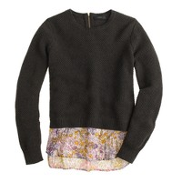 Merino shirttail sweater in Liberty tiny poppytot floral