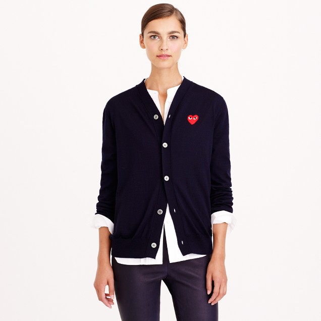 PLAY Comme des Garçons® wool cardigan sweater