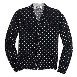 PLAY Comme des Garçons® merino wool cardigan sweater in polka dot