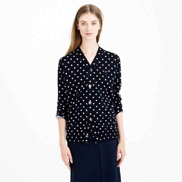 PLAY Comme des Garçons® merino wool cardigan sweater in polka dot