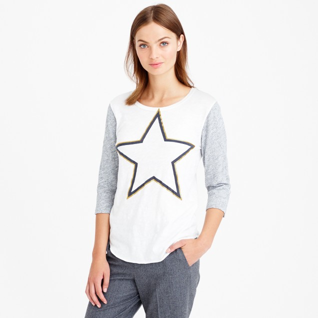Star baseball T-shirt