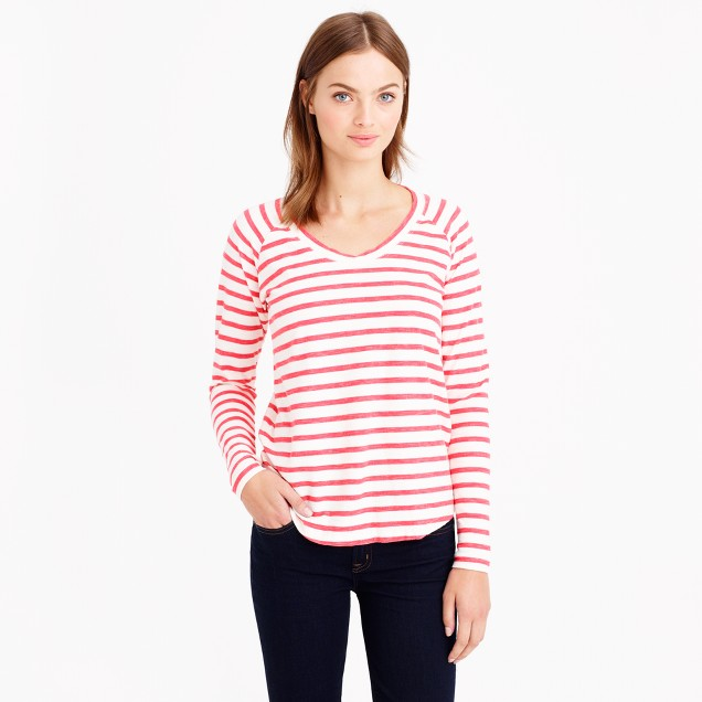 Stripe ballet T-shirt
