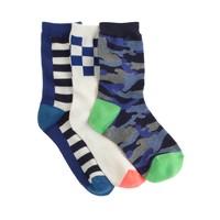 Boys' camo socks three-pack
