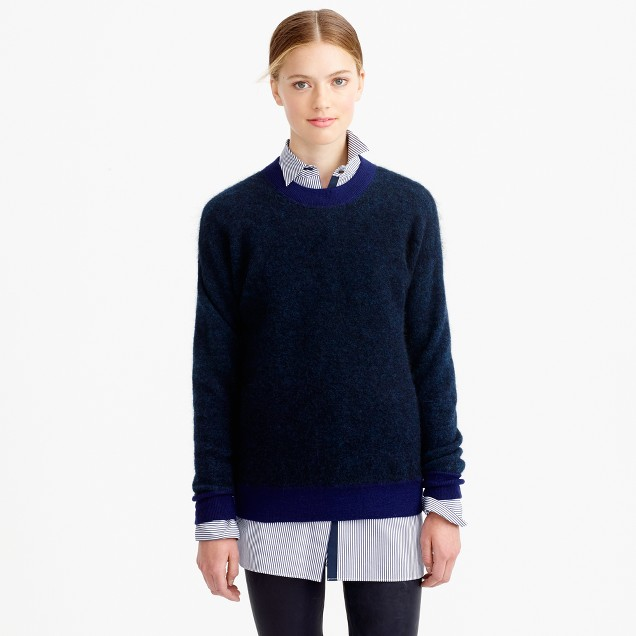 Brushed mohair boyfriend sweatshirt