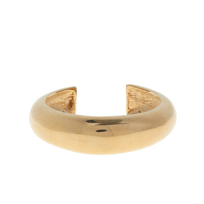 Hollow brass cuff