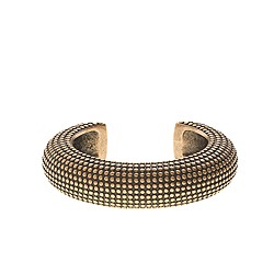 Textured brass cuff