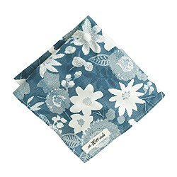 The Hill-side® cotton pocket square in Xerox floral
