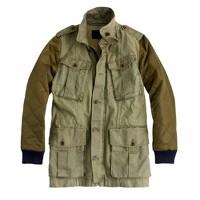 Quilted boyfriend fatigue jacket