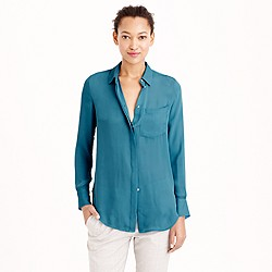 Petite classic silk blouse