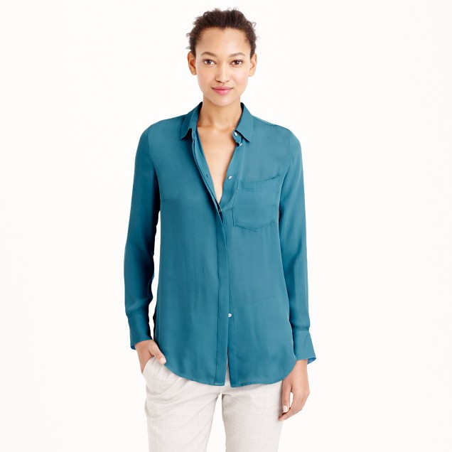 Tall classic silk blouse