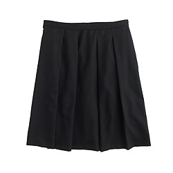 Petite pleated skirt in Super 120s wool
