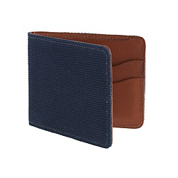The Hill-side® Japanese chambray wallet