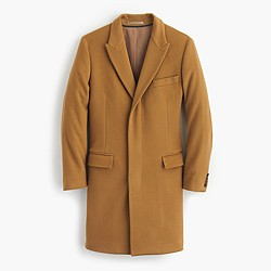 Ludlow peak-lapel topcoat in wool-cashmere with Thinsulate®