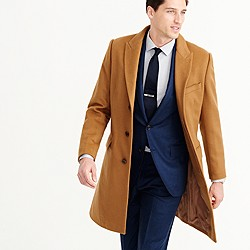 Ludlow peak-lapel topcoat in wool-cashmere