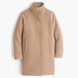 Petite stadium-cloth cocoon coat