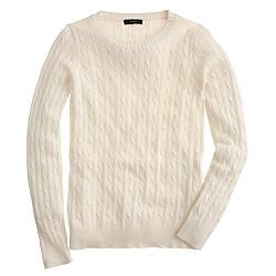 Cambridge cable crewneck sweater