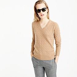 Cambridge cable V-neck sweater