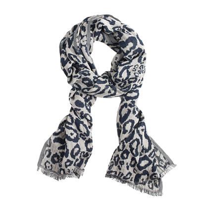 Navy leopard scarf