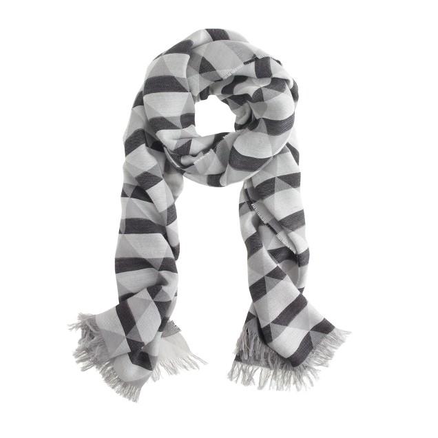 Shaded diamond scarf