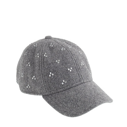 Girls' crystal dot baseball cap