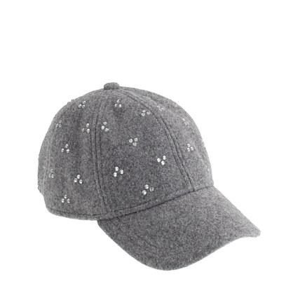 Girls' crystal dot baseball cap