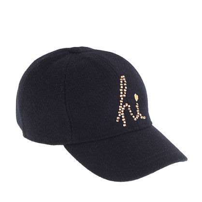 Girls' crystal hi baseball cap