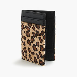 Calf hair magic wallet