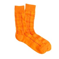 Lightweight contrast grid socks