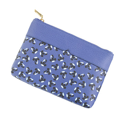 Printed leather pouch