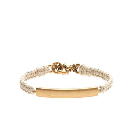 Golden plate friendship bracelet