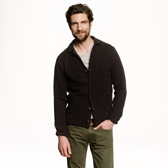 Wallace & Barnes boiled lambswool sweater-jacket