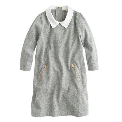 Girls' collared sweatshirt dress