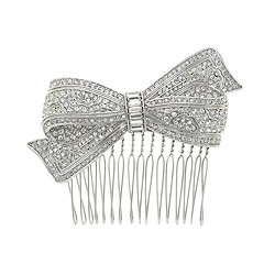 Jeweled bow comb