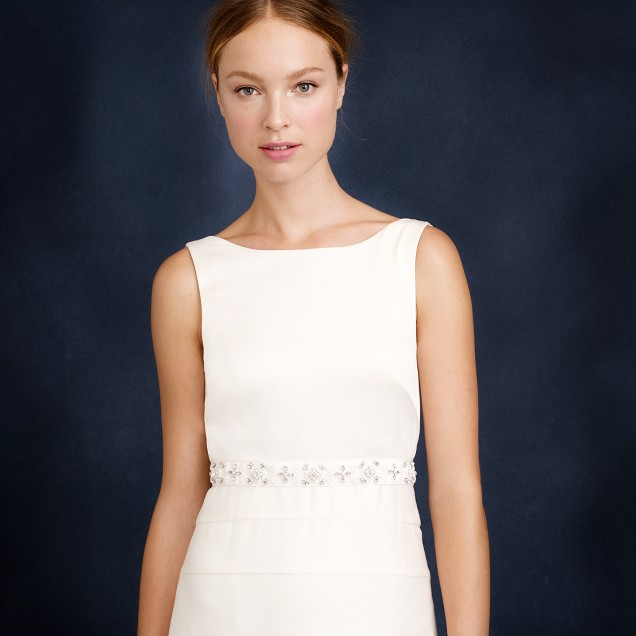 Geometric embellished grosgrain sash