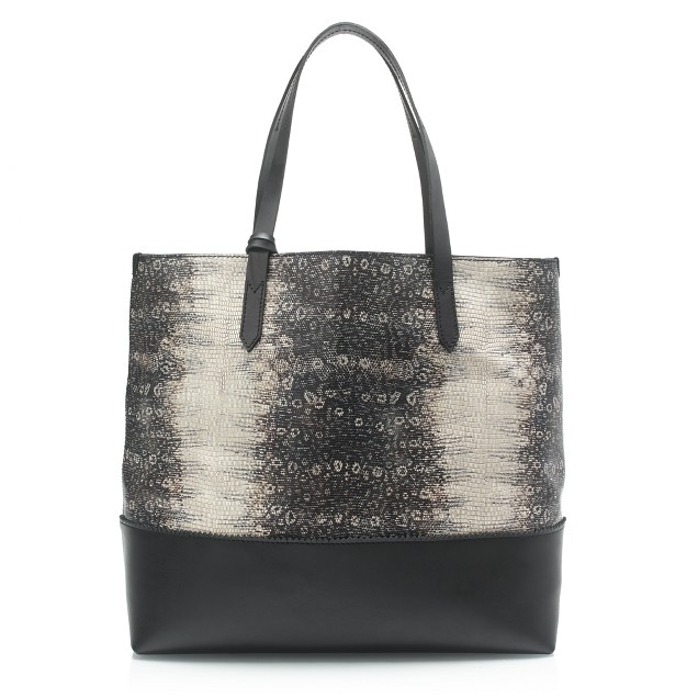 Downing tote in embossed leather